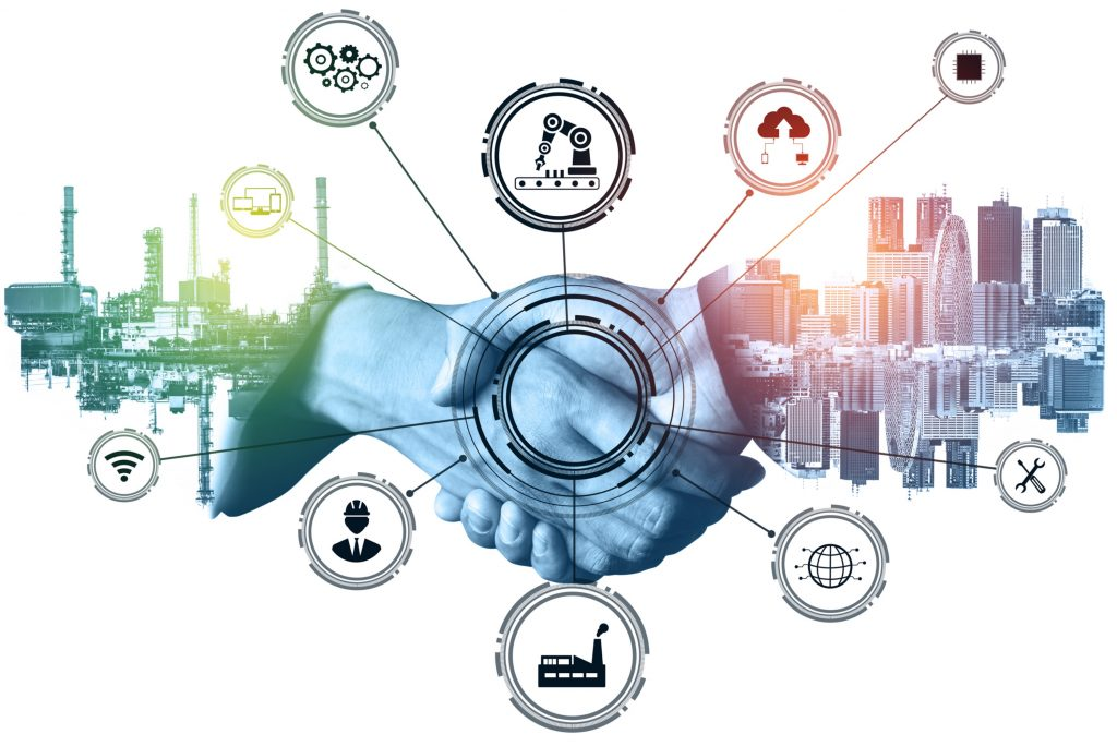 industry 4 0 technology concept smart factory fourth industrial revolution